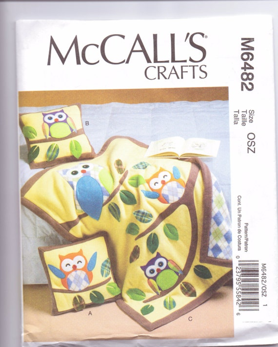 Baby Quilt Patterns Mccalls : New McCalls Baby Quilt pattern owl quilt pillows two styles