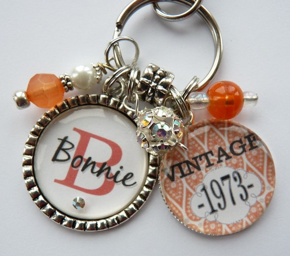 40th birthday gift keychain vintage personalized name mother sister ...