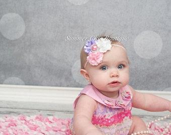 Baby Headband, Infant Headband, Newborn Headband, Toddler Headband, Girls Headband - Triple Mini Puff Headband