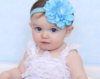 Aqua Baby Headband, Infant Headband, Newborn Headband, toddler Headband, Girls Headband , Aqua  Headband,Aqua Blue Headband