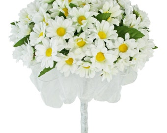 Daisy Silk Hand Tie - Bridal Wedding Bouquet