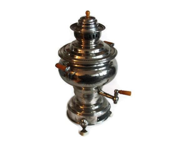 Samovar vintage tea boiler copper teapot electrical russian for Copper water boiler