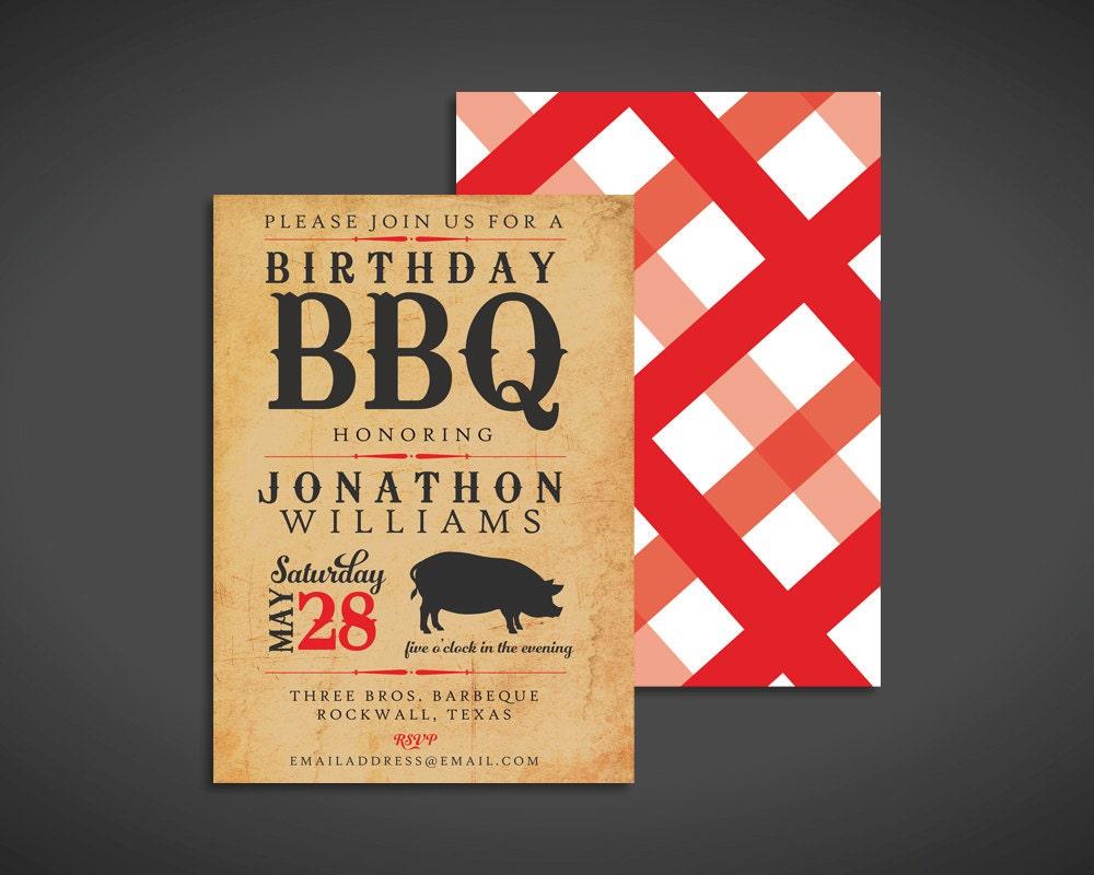 Backyard Bbq Wedding Invitations: Items Similar To BBQ Party Invitation