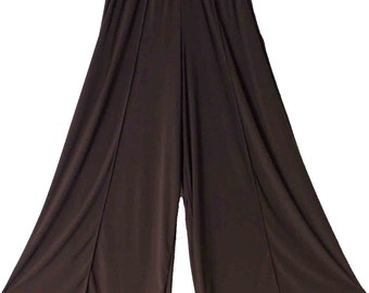 Plus Size lagenlook Palazzo Pants in Brown color Size L TO 4XL