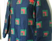 On Sale MAXI MANDARIN Rockabilly VINTAGE Mandarin Black Long Cheongsam Asian Dress