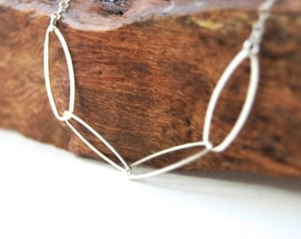 Puakai necklace - sterling silver oval link necklace, delicate silver layering necklace, oval link necklace, made in maui, hawaii