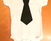 Baby Boy Tie Onesie Black (18 months)