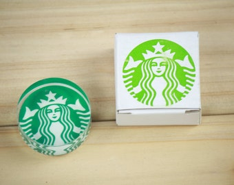 1 Piece Starbucks Crystal Glass Stamp - Rubber Stamp - Diary Stamp - Decoration