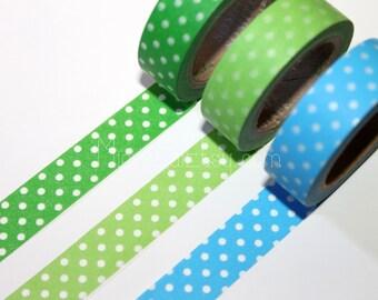 Washi Tape Set - Japanese Washi Tape - Masking Tape - Deco Tape - 3 Rolls - WTS2011