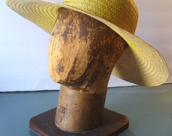 Made in Italy Wide Brim Straw Hat