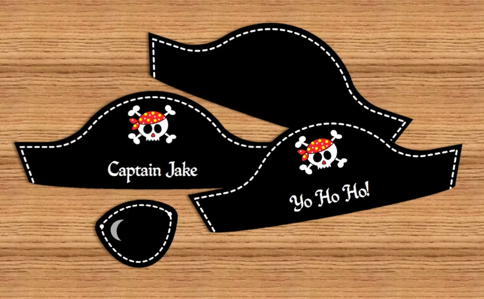 diy pirate hat template pirate party text editable pirate hat and eye patch you