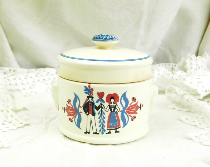 """REDUCED TO CLEAR Antique French Ironware """"Foie Gras"""" Lided Pot made by Sarrguemine, French Rural Decor, Country, Retro Vintage, Paté, Digoin"""