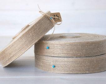 """Natural Burlap Ribbon - 25 Yards of Natural Jute Ribbon -  1"""" wide - Jute Ribbon - Natural Burlap Ribbon - DIY Wedding Ribbons"""