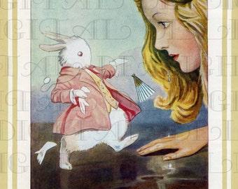 Margaret Tarrant Alice Lookalike. Alice in Wonderland Digital Download. Vintage Alice Illustration. Alice in Wonderland Digital Print.