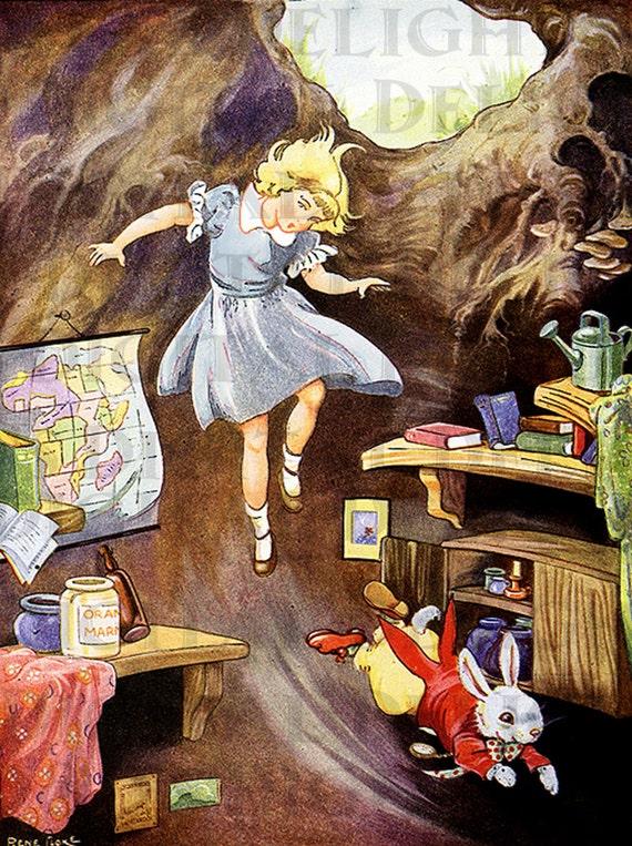 FaLLinG DoWn The RAbbit HoLE. ALICE in Wonderland DIGITAL