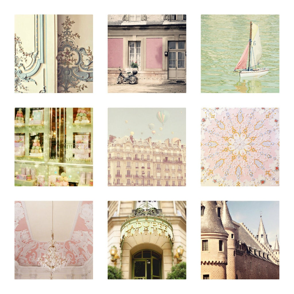 Pastel Home Decor Whimsical Photography Of Paris Italy