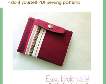 Easy bifold wallet - PDF sewing pattern