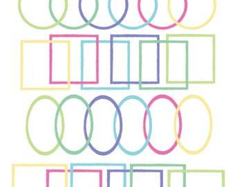 60% OFF SALE Digital Clip Art  Digital Frames png Teacher Clipart Painted Frames #108
