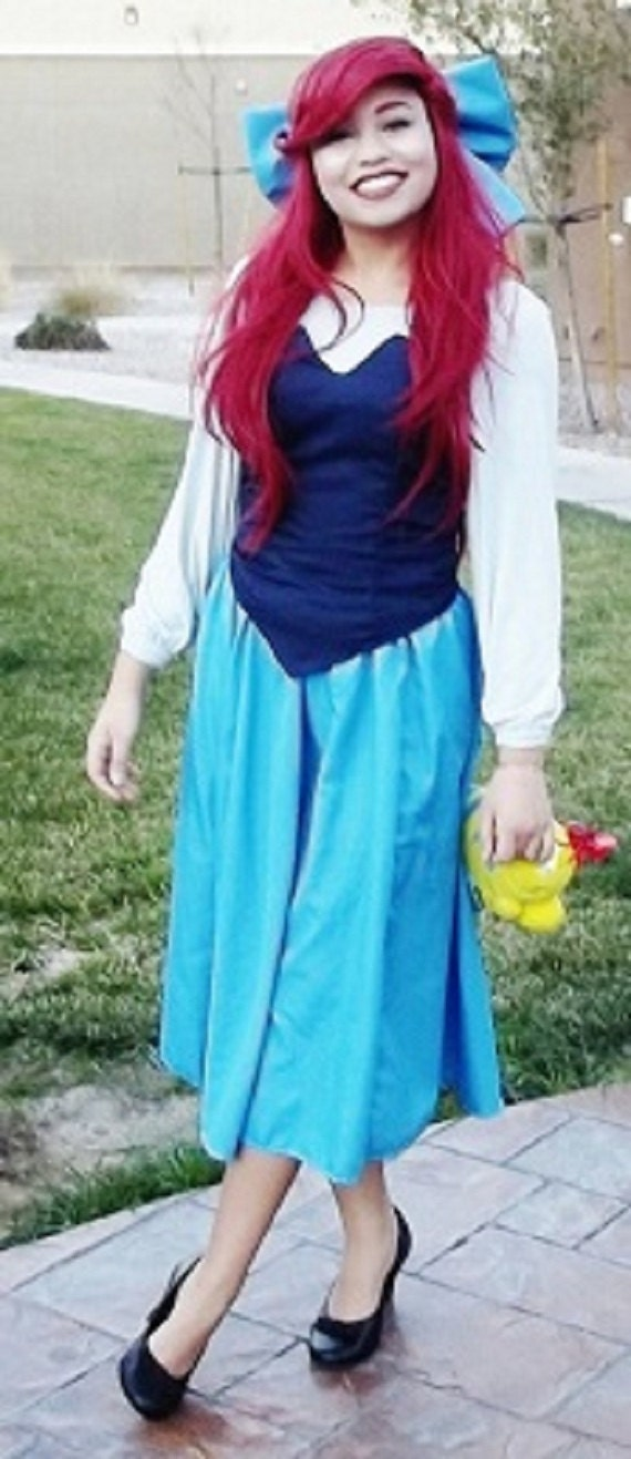 Ariel The Little Mermaid Adult Town Kiss The Girl Dress Cosplay  sc 1 st  The Hunt & ARIAL HALLOWEEN COSTUME on The Hunt