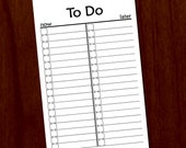 Now & Later To Do List Printable