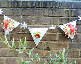 Outdoor Flower  Bunting 36 inch long /0.9m