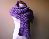 Handknit Lace Wrap/Scarf in Lilac - Romantic - Vegan - Wrap - Ready-to-Ship