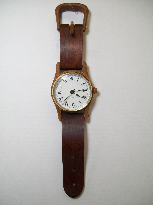 Wooden Watch Wall Or Desk Clock