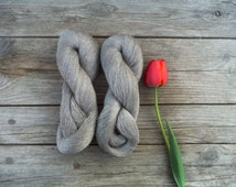 Natural Linen Thread - 2  skeins pure linen