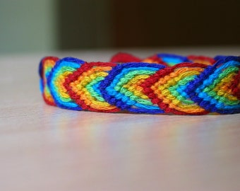 Dark Rainbow Friendship Bracelet