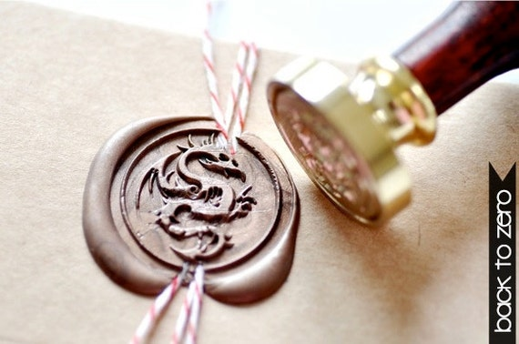 B20 Wax Seal Stamp Mythical Creatures Dragon