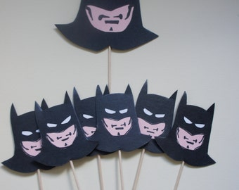 Superhero Cake Topper and 6 cupcake picks