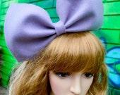 Pale purple oversize big bow bunny headband/kawaii harajuku lolita barbie hair accessory/extra large giant party costume/dolly