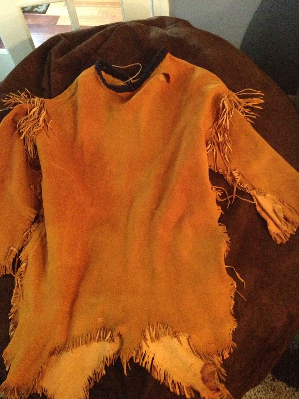 Native American Buckskin Long Tail Shirt Dress