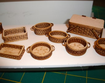 "Set of Basket Kits, 1"" Scale Miniature"