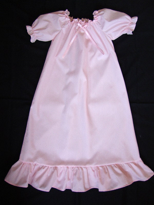 Girls Pink Cotton Nightgown With Option Of Matching 18