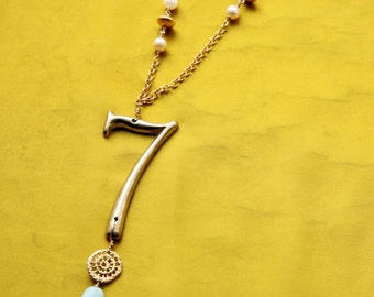 Vintage Lucky  #7 Necklace