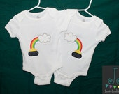 St. Patrick's Day Pot of Gold appliqué Boy or Girl Twin Set Bodysuits  0-3M/6M/12M/2T/3T/4T MADE TO ORDER