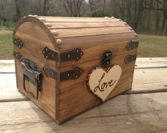 Rustic Wedding Chest - Love Letter Chest - Love Notes Chest - Rustic Wedding - Wishing Tree - Wishing Well Chest - Keepsake Box - Love Box