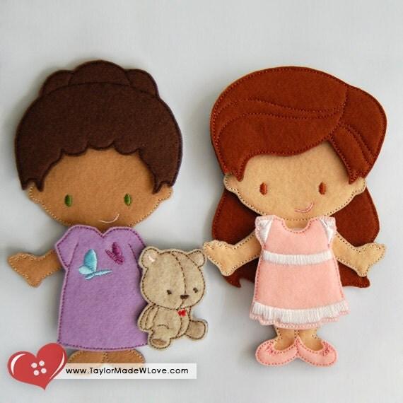 Toys For Epilepsy : Angels epilepsy fundraiser amelie ebony felt paper doll