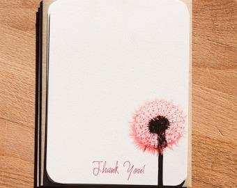 Dandelion Stationery. Set of 12 Eco Friendly Cards.