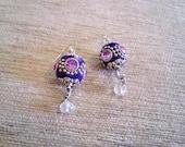 Oriental Bollywood Kashmir Earrings - Dark Violett - SandstormArt