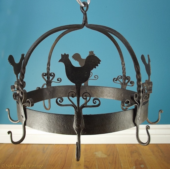 Items Similar To Vintage Cast Iron Rooster Hanging Eight 8