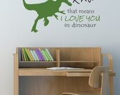 Dinosaur Decal - Trex Decal - Wall decals - Dinosaur Decal - Boys room decal - Personalized Decal - Kids Decals - Decals - Vinyl decals
