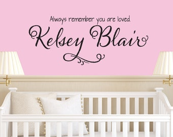 Name Decal - Nursery Decals - Girls Room Decal  - Girls Name Decal - Personalized Decal - Children Name - Decals - Nursery Decor