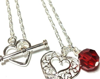 Two Hearts Silver-plated Necklace
