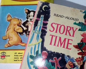 Wonder Read-Aloud Books - Story Time (1965)  and Puppy Stories (1957)