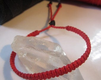 Red Friendship/Love Bracelet Macrame Handmade