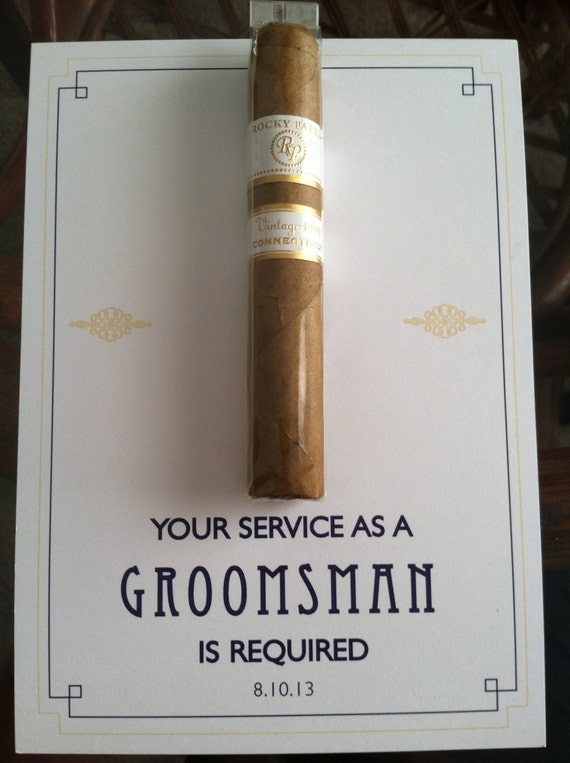 12 creative ways to propose to your groomsmen by steve deters at the standard cigar junglespirit Image collections