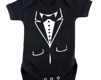 Baby Tuxedo body suit