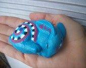 Reserved for Lilly  Blue Bunny Swirl Totem Animal